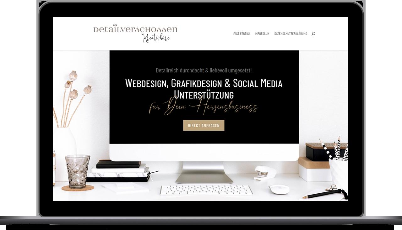 Detailverschossen Kreativbüro / Dominique Lapp / Webdesign für Dein Herzensbusiness
